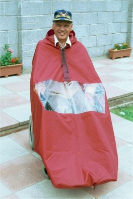 Powerchair Cape without Sleeves Standard Unlined