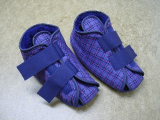 Tartan Medical Slipper Polyester Lined