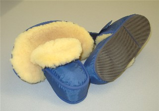 Slipper Boots Sheepskin Lined